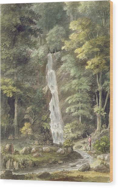 The Cascade Waterfall At Hestercombe Wood Print