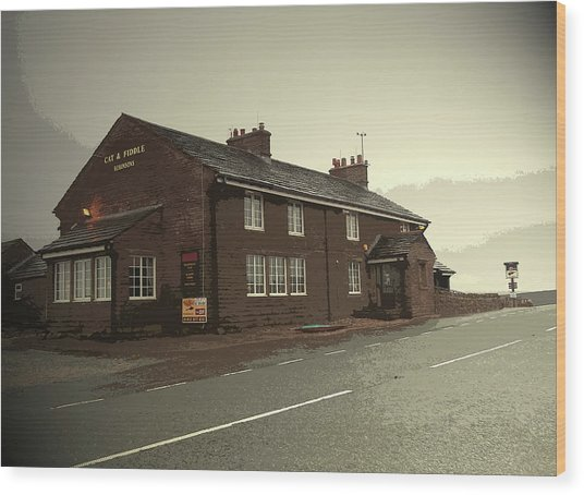 The Cat And Fiddle Public House, Pictured Here Wood Print by Litz Collection