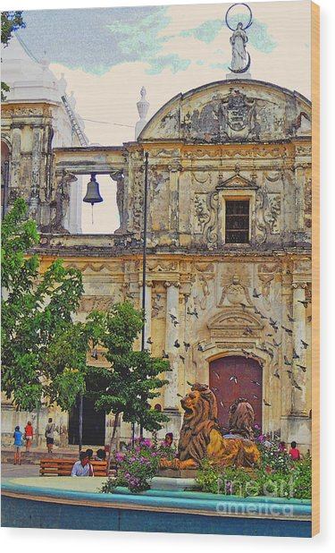 The Cathedral Of Leon Wood Print