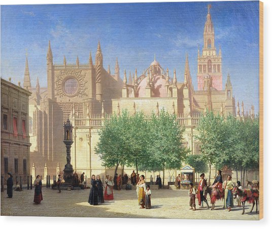 The Cathedral Of Seville Wood Print