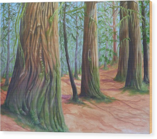 The Cedars Wood Print