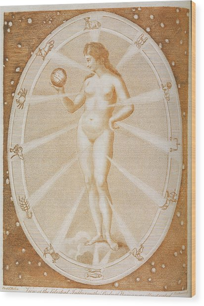 The Celestial Influx Acting Wood Print