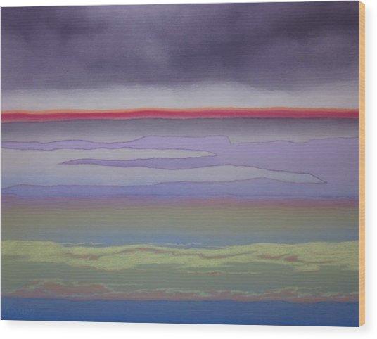 The Changing Skies Wood Print by Harvey Rogosin