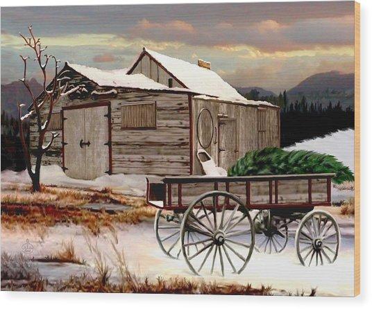 The Christmas Tree Wood Print