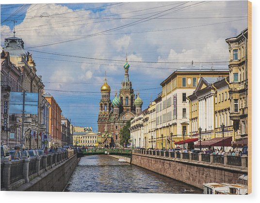 The Church Of Our Savior On Spilled Blood - St. Petersburg - Russia Wood Print