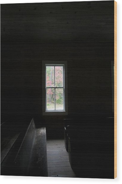 The Church Window Wood Print