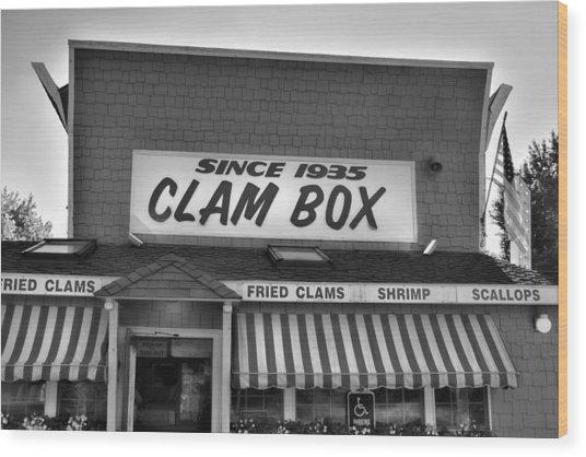 The Clam Box Wood Print by Joann Vitali