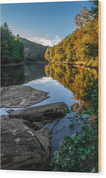 The Clarion River September 2014 Wood Print