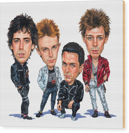 The Clash Wood Print by Art