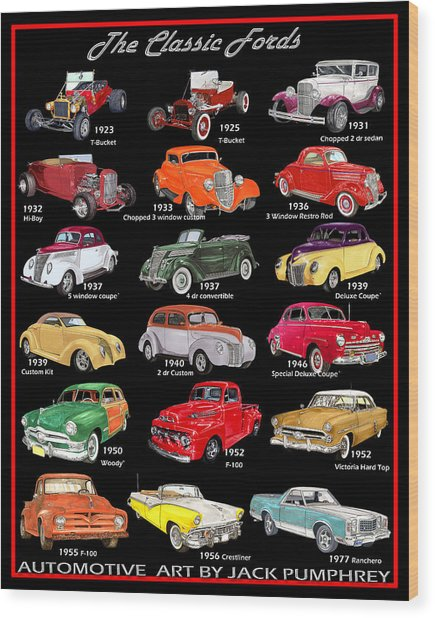 The Fords Shower Curtain Wood Print