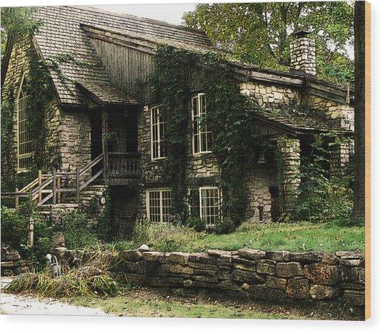 The Clearing Lodge Wood Print
