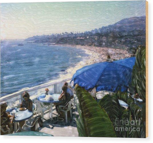 The Cliff Laguna Beach Wood Print