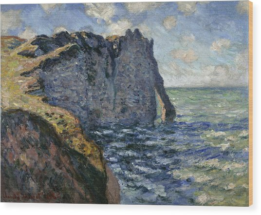 The Cliff Of Aval, Etretat, 1885 Wood Print