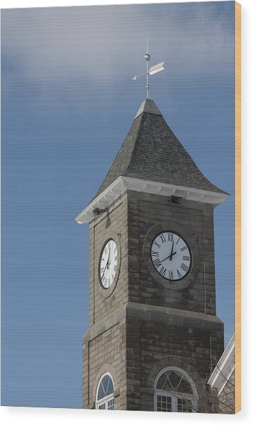 The Clock Tower Wood Print by Rhonda Humphreys