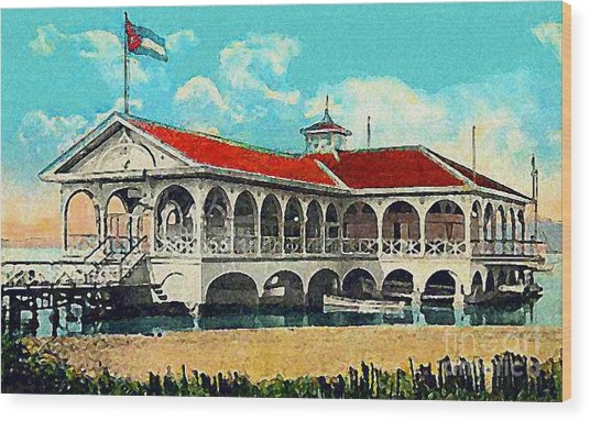 The Club Nautico In Santiago Cuba In 1910 Wood Print