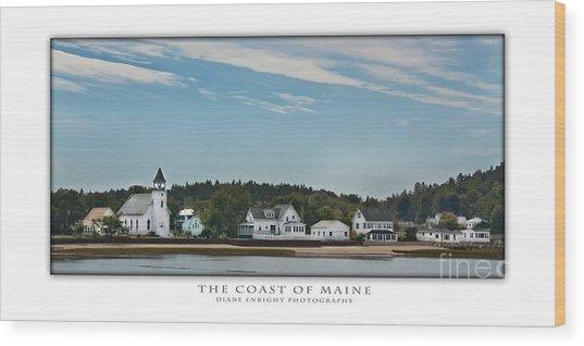 The Coast Of Maine Wood Print