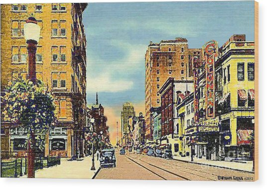 The Colonial Theatre On Hamilton St. In Allentown Pa Around 1935 Wood Print