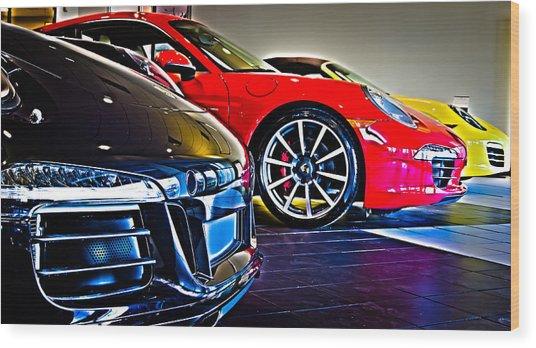 The Color Of Porsche Wood Print