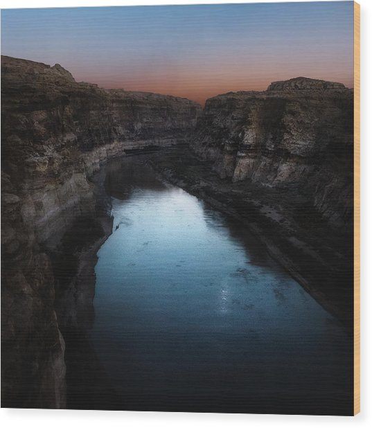 The Colorado River A Hite Crossing  Wood Print