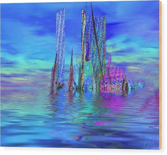 The Colors Have Went Out To Sea. Wood Print