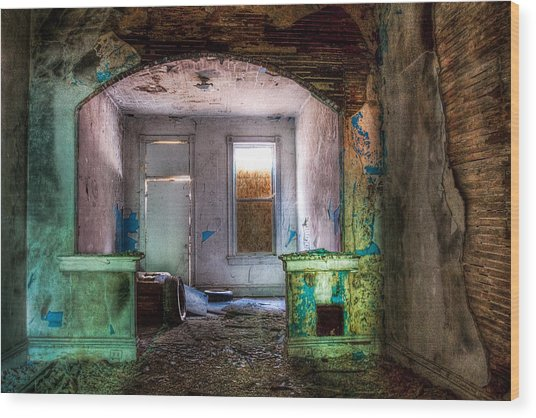 The Colors Of Decay Wood Print