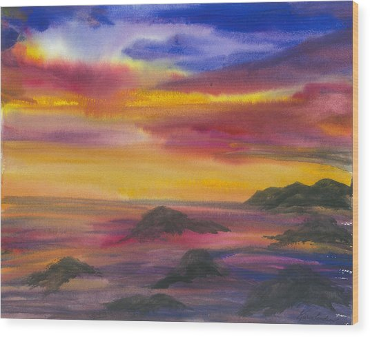 The Colors Of Life Wood Print by Karen  Condron