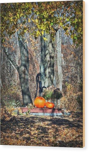 The Colors Of November Wood Print