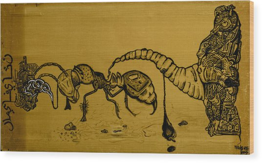 The Conception Of Picasso And Dali Wood Print by Nickolas Kossup