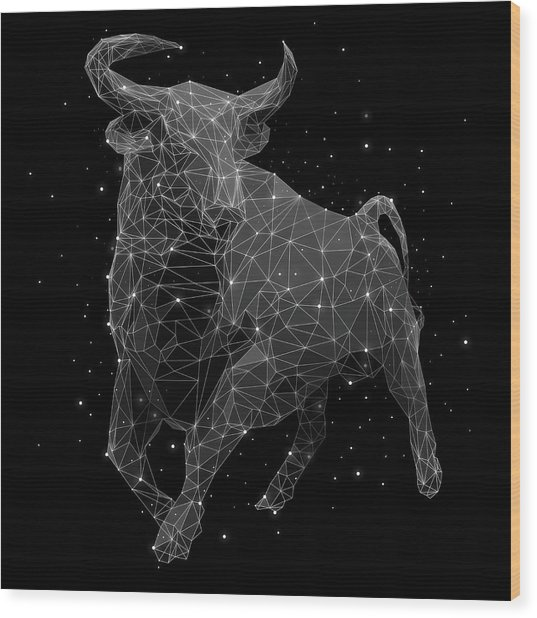 The Constellation Of Taurus Wood Print