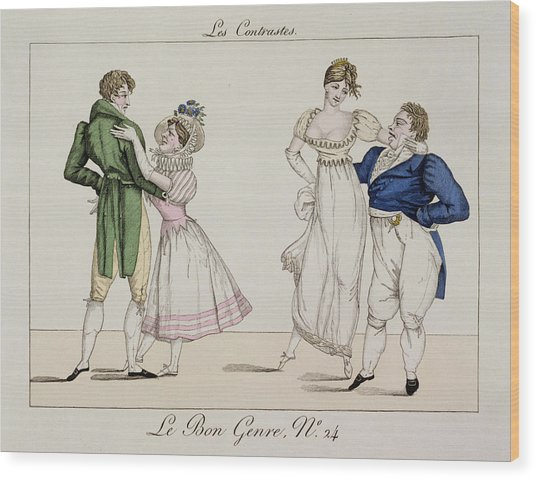 The Contrasts, Plate 24 From Le Bon Wood Print