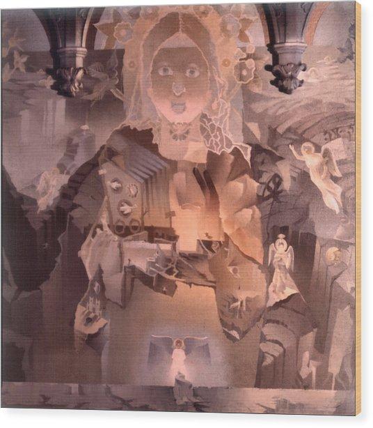 The Cosmic Christ 1976 Wood Print by Glenn Bautista