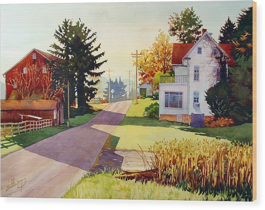 The Country Road Wood Print