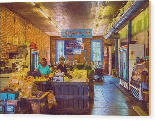 The Country Store - Impressionistic - Nostalgic Wood Print by Barry Jones