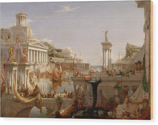 The Course Of Empire Consummation  Wood Print