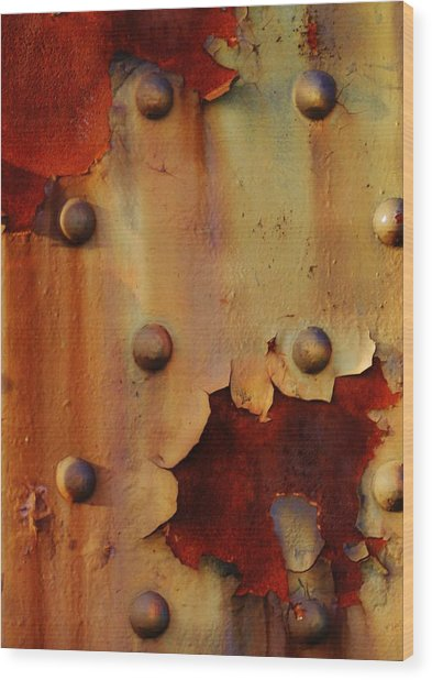 The Course Of Rust Wood Print by Charles Lucas