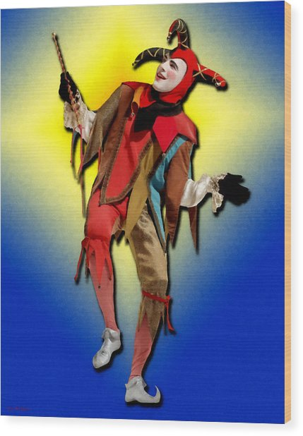 The Court Jester Wood Print