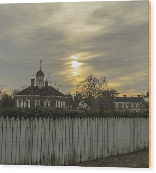 The Courthouse At Colonial Williamsburg Wood Print