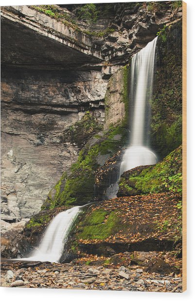 Wood Print featuring the photograph The Cowshed Falls by Chris Babcock