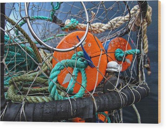 Crab Ring Wood Print