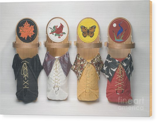 Four Seasons Cradleboards Wood Print