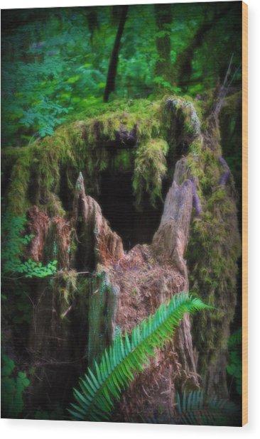 The Creature's Home Wood Print by Amanda Eberly-Kudamik