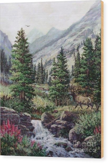 The Crossing Wood Print by W  Scott Fenton
