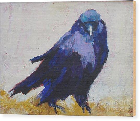 The Crow Wood Print by Virginia Dauth