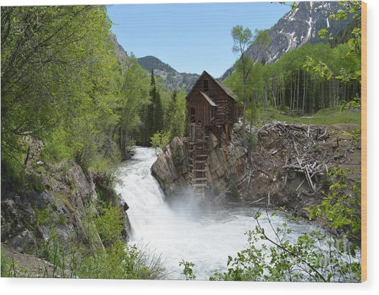 The Crystal Mill Wood Print