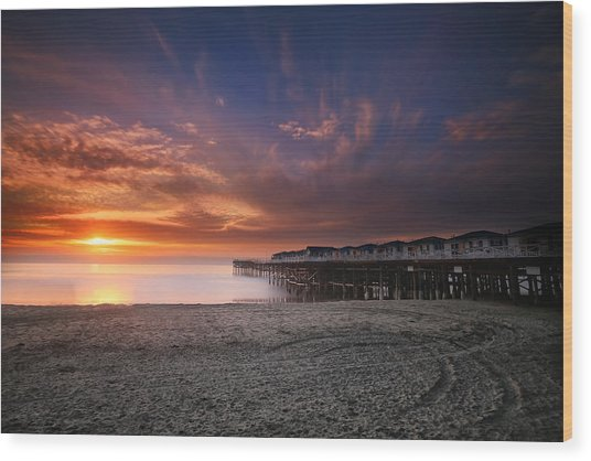 The Crystal Pier Wood Print by Larry Marshall