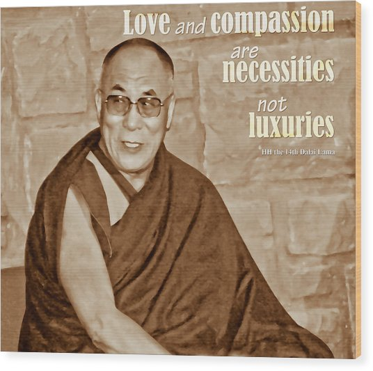 The Dalai Lama Wood Print