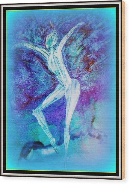 The Dance In Blue Wood Print