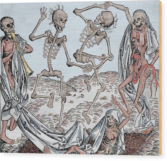 The Dance Of Death Wood Print