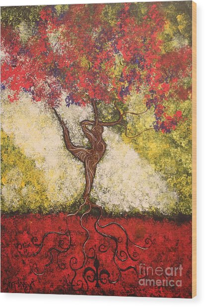 The Dancer Series 7 Wood Print