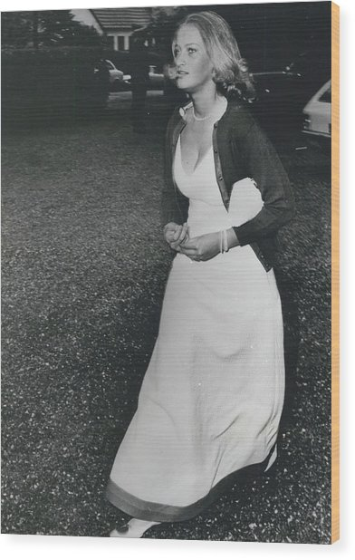 The Danes Believe Countess Desires Could Be The Bride For Wood Print by Retro Images Archive